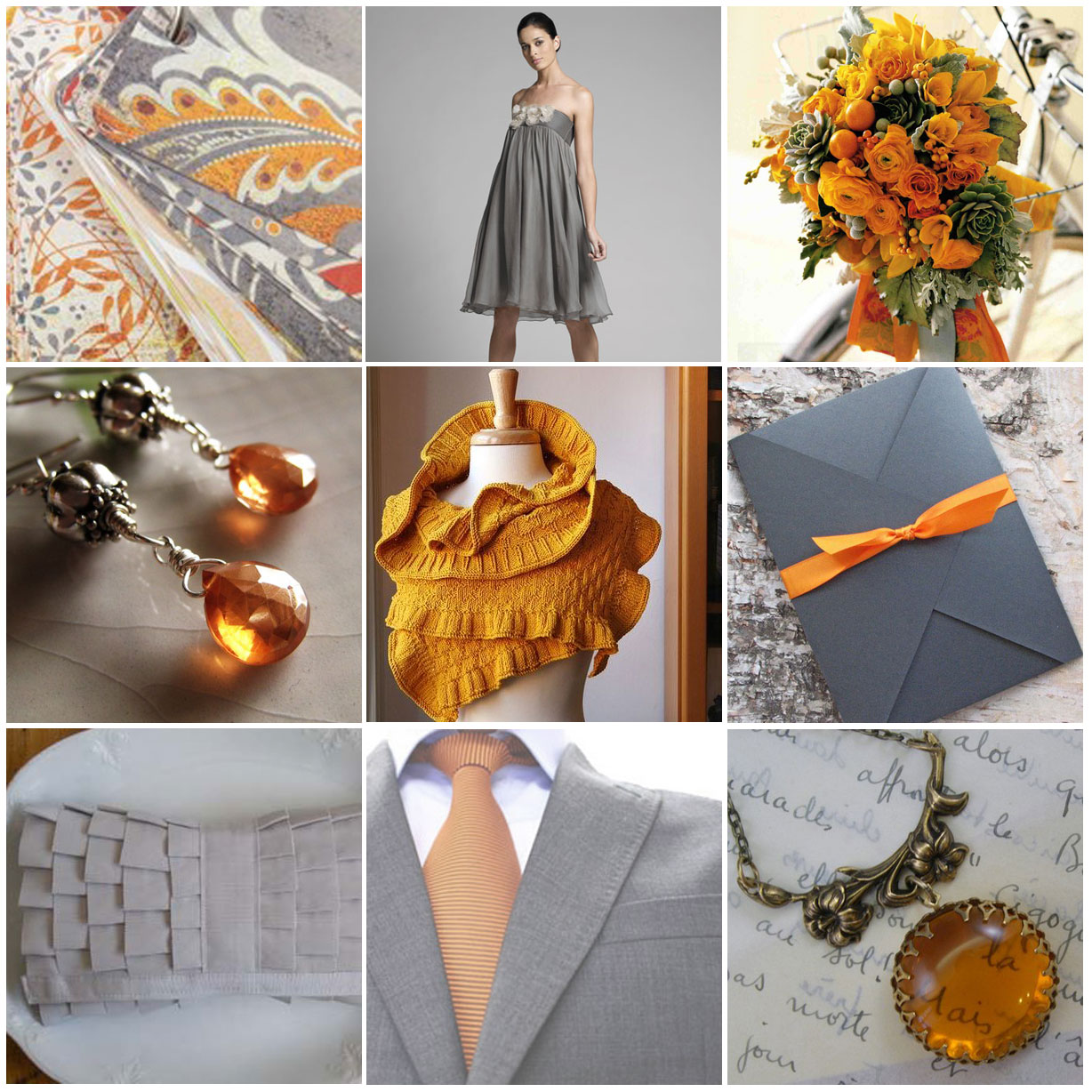Grey Wedding Ideas: CPOW: Orange And Gray