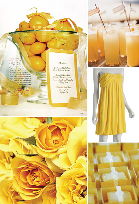 Yellow wedding decor centerpiece