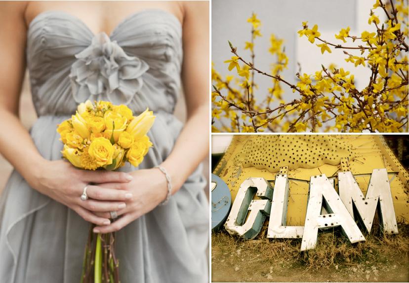 Wedding Yellow: Colour: Yellow And Grey Wedding